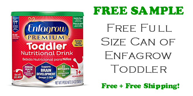 Enfagrow Toddler Nutritional Drink FREE CAN!