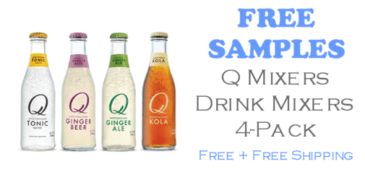 Q Mixers 4-pack of FREE SAMPLES from Q Mixers