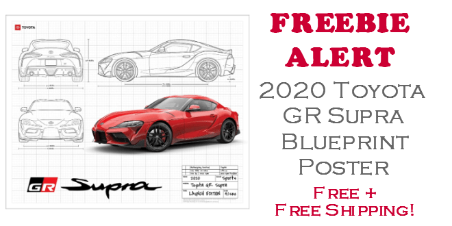 2020 Toyota GR Supra FREE POSTER