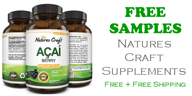 Natures Craft Supplements FREE SAMPLE