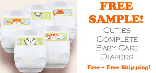 Cuties Diapers FREE SAMPLE