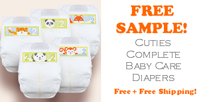 Cuties Diapers FREE SAMPLE