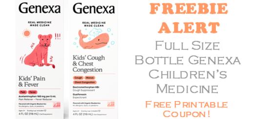 Genexa Childrens Medication FREE FULL SIZE BOTTLE!