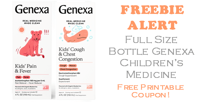 Genexa Childrens Medication FREE FULL SIZE BOTTLE!