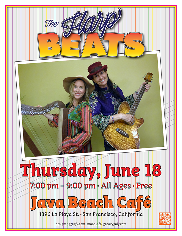 The Harpbeats at Java Beach Cafe 061815