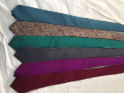 Ties with custom alterations by a tailor.