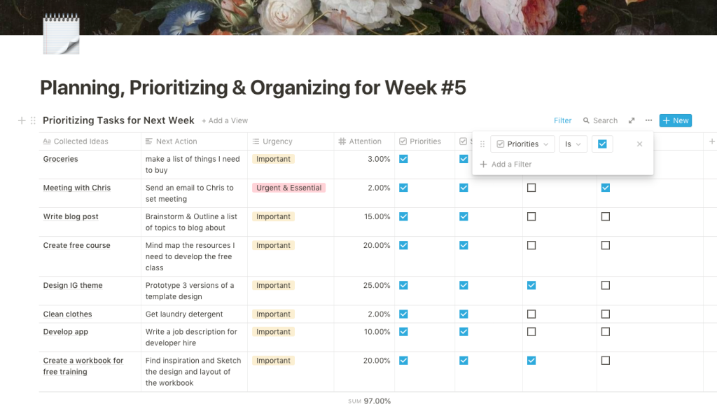 How I Plan my Week with Notion and GTD + Template - Groovy Wink