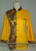 Blus Batik Kombinasi Kuning