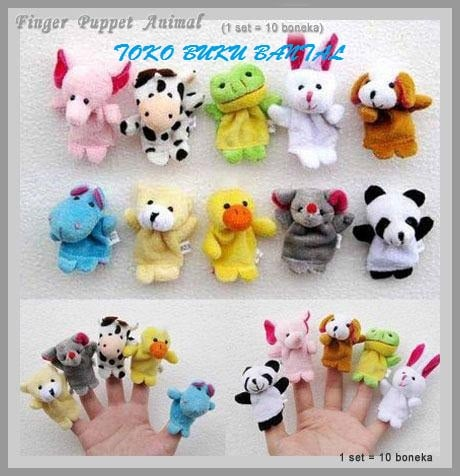 BONEKA JARI BINATANG(FINGER PUPPET ANIMAL)