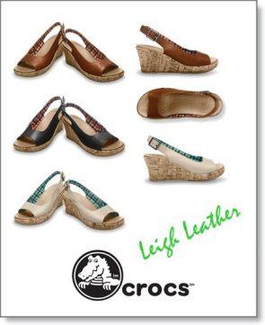jual sepatu leigh wedges leather 085888666607