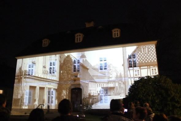 Videoprojektion in Großschönau, 10.12.2016