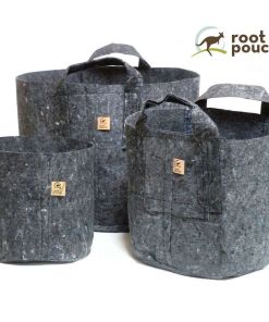 Root Pouch Grey Fabric pot
