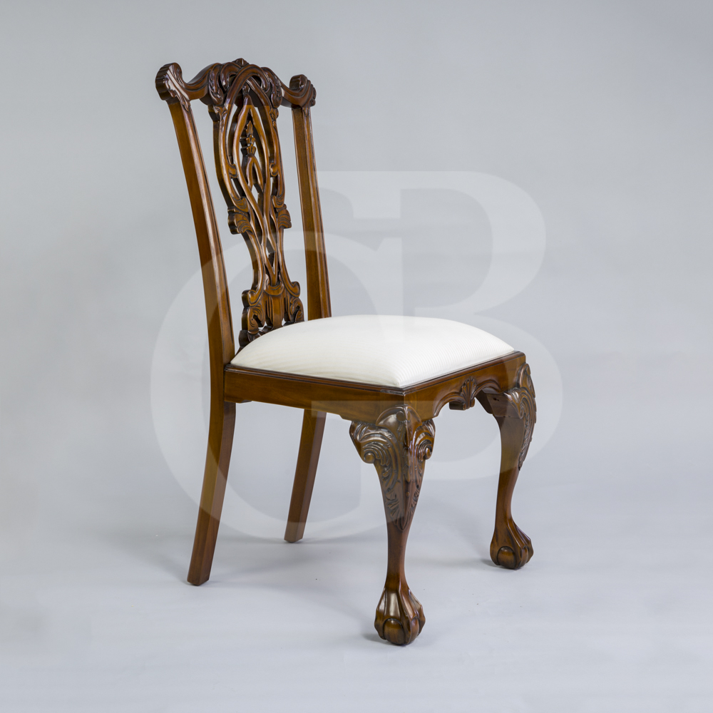 Four New Solid Mahogany Chippendale Style Dining Chairs With Ball And Claw Feet