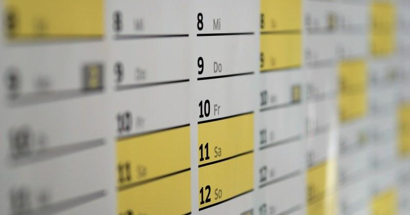 Kalendarz wydarzeń na 2018 rok
