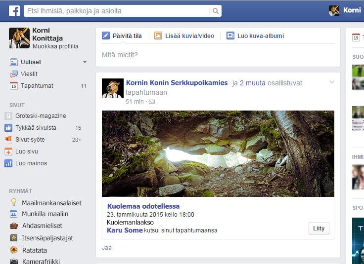 Kuolema saapuu Facebookissa