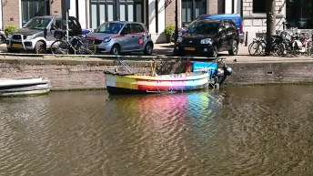 The odd rainbow boat