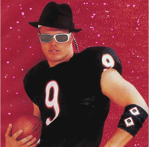 jim McMahon of the Chicago Bears strikes a pose.