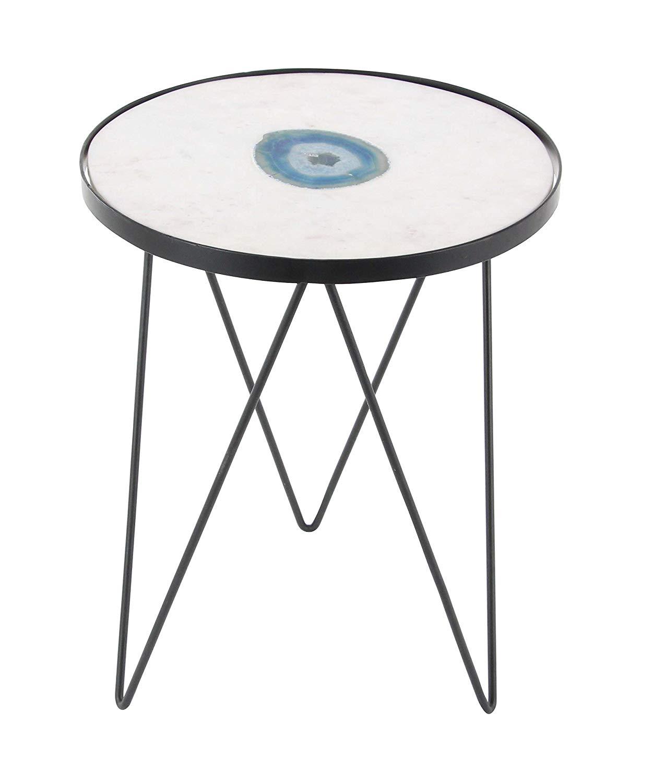 Metal Pedestal Accent Table