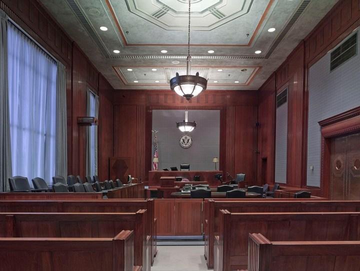 court room, testimony