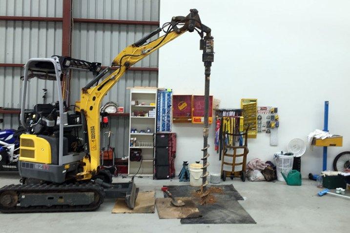 test hole drilling digger auger