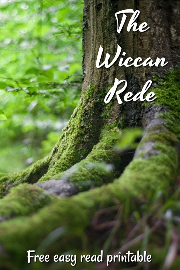 The Wiccan Rede free printable