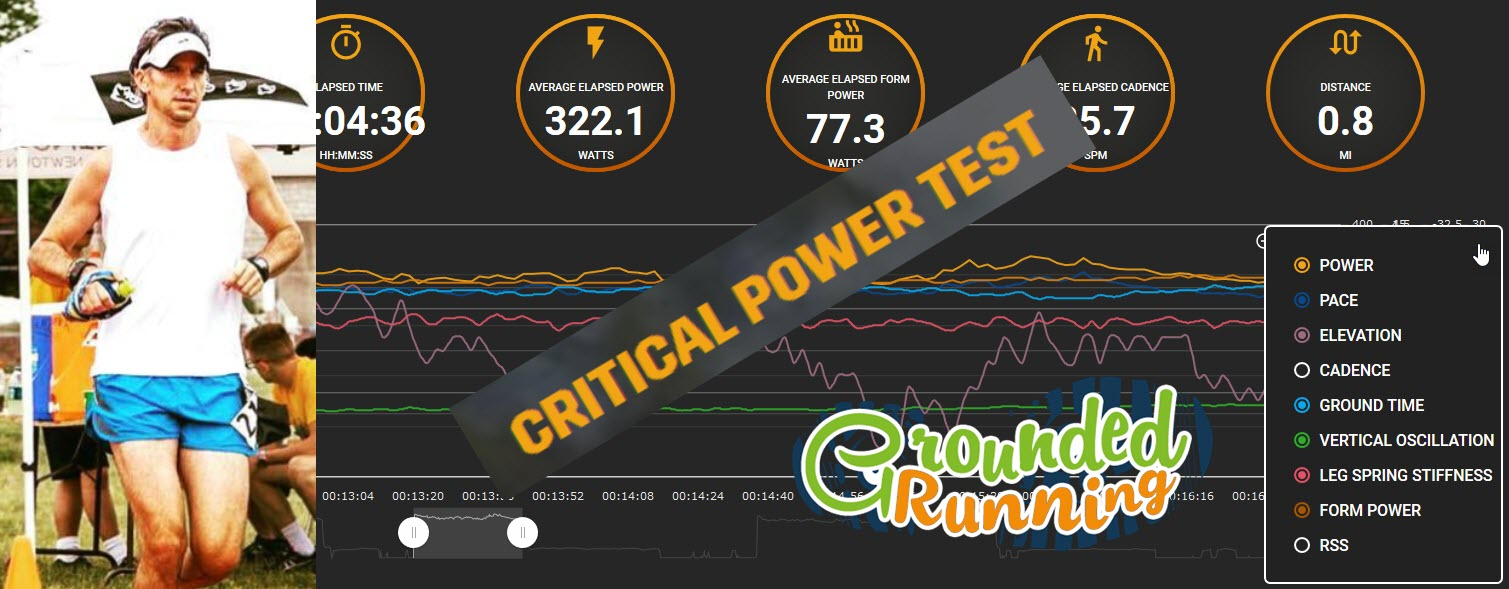 My first Power Test with Stryd