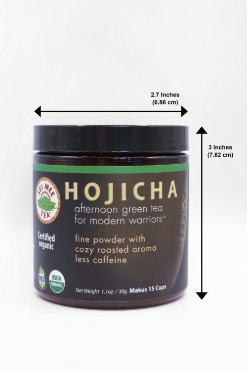 Hojicha 30g Jar Dimensions