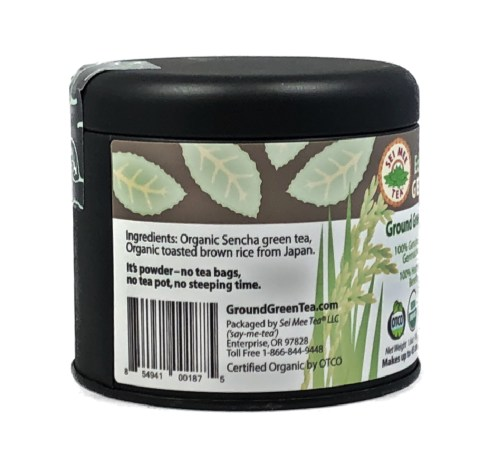organic genmaicha powder gift tin side 2