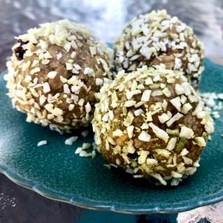 matcha coconut energy balls