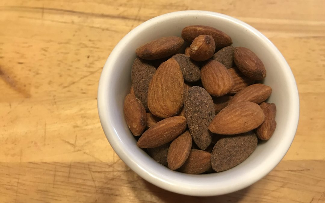 Smokey-Spicy-Matcha and Cocoa Almonds