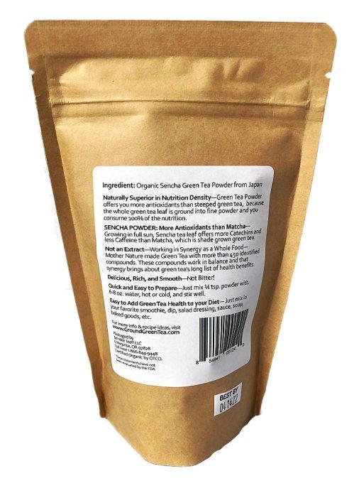Edible Green Sencha Powder 120g pouch