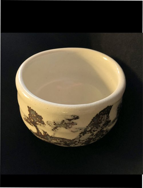 Japanese matcha tea bowl Sumi inside