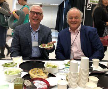 Tea Master Bruce Richardson and Prof. Robert Hackman