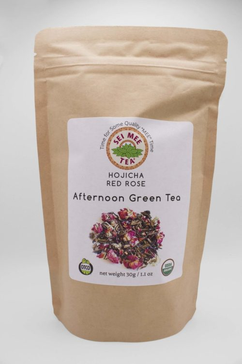 Hojicha Red Rose Afternoon Green Tea Front