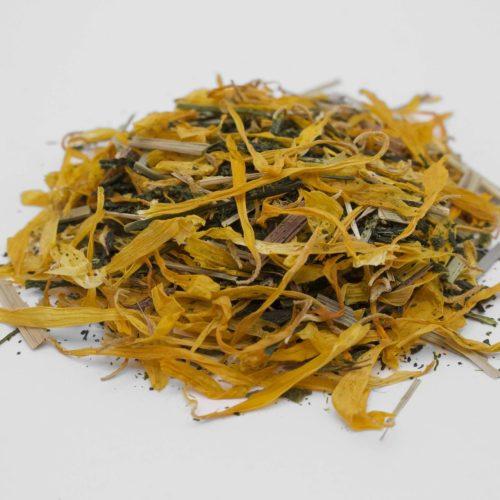Fukamushi Sencha Lemongrass Morning Green Tea Leaves