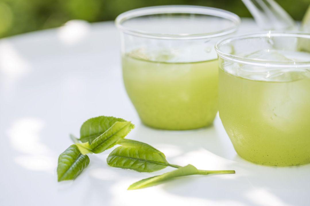 iced Sencha powder tea