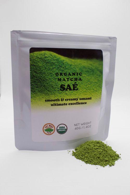 Organic Matcha SAE pouch and powder