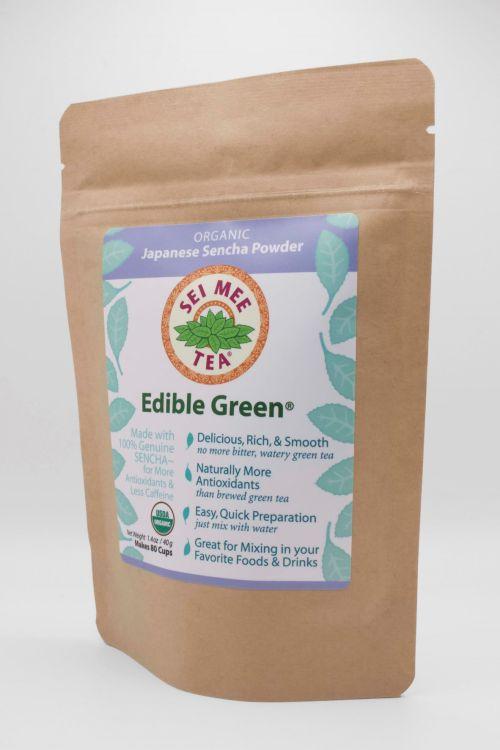 Edible Green Sencha 80 cup Side View