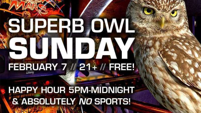Image for Superb Owl Sunday: Extended Happy Hour! Sunday 2/7, 5pm