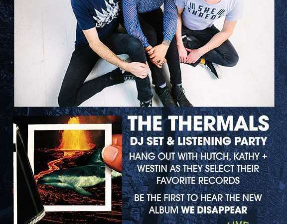 Image for Portland Is The Reason: The Thermals DJ Set + New LP Listening Party – Thursday 3/24, 8-11pm