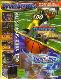 Image for New in the Arcade: NFL Blitz 2000 Gold & NBA ShowTime Combo Cabinet