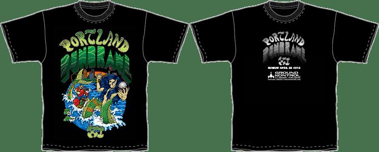Portland Pinbrawl XI Shirt Preview