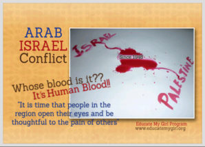 """Arab-Israel Conflict, """"Whose Blood is it?"""""""