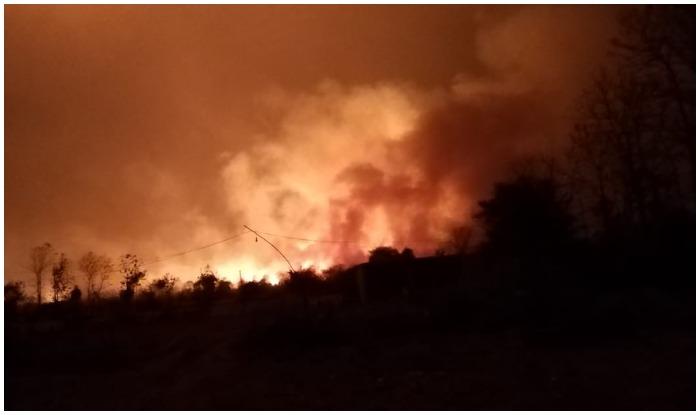 MADHYA PRADESH : HUGE FIRE IN HOSHANGABAD-ITARSI NH 69, 3 MEN KILLED