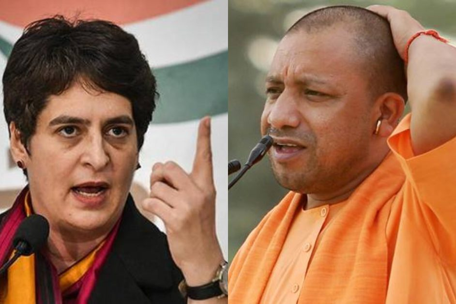 congress priyanka gandhi cm yogi permission run buses migrant laborers BJP flags