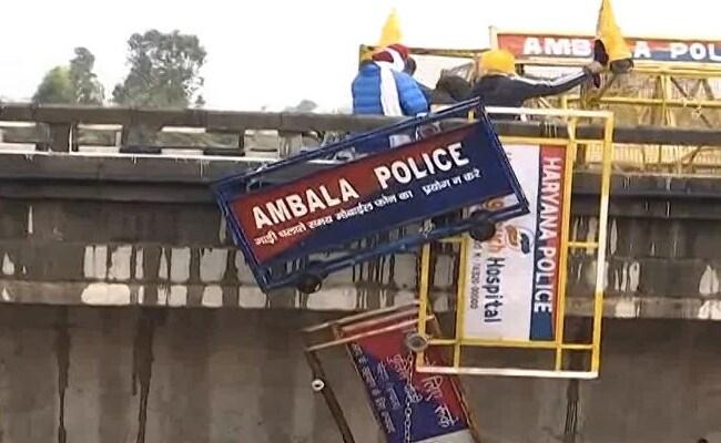 Farmers protest against agricultural law, barricading break police clash at ambala punjab haryana border delhi