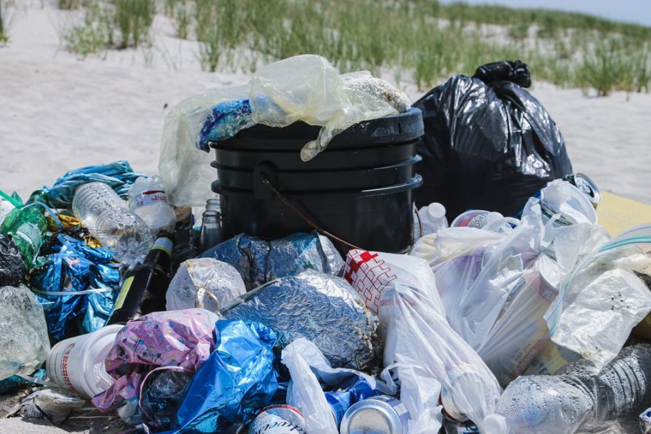 A pile of plastic collected along a small stretch of beach on Long Island, NY. This beach didn't have garbage receptacles, so visitors frequently dump their trash behind with no regards for the local wildlife. If you visit a beach like this, make sure you pack out what you brought in! And use less plastic in the first place. Follow on Instagram @wildlife_by_yuri, and find more free plastic pollution photos at: https://www.wildlifebyyuri.com/free-ocean-photography