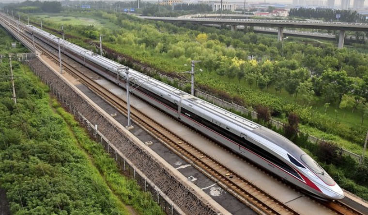 China started bullet train in Tibet