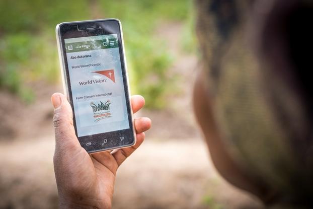 Rural women smartphone