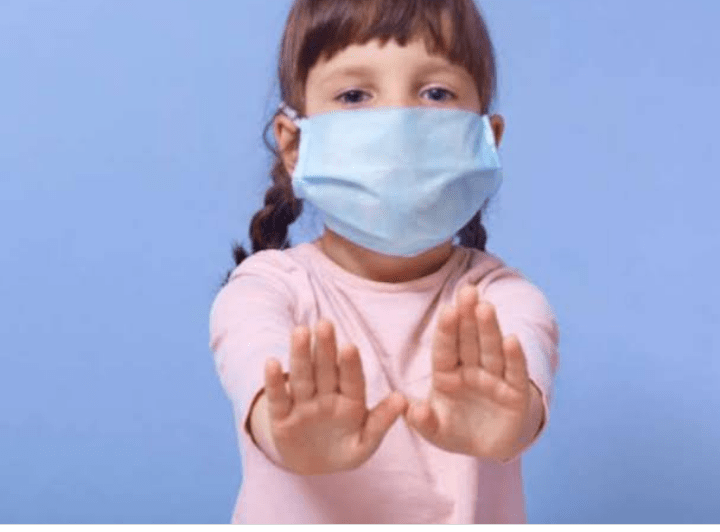 Children's say no to mask